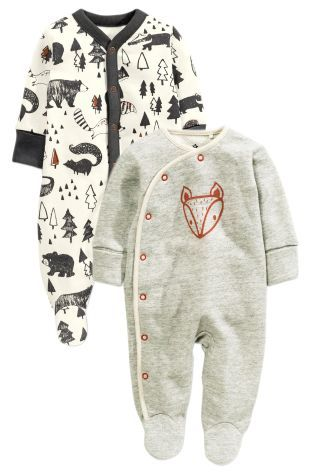 Buy Grey Alpine Fox Sleepsuits Two Pack (0mths-2yrs) online today at Next: United States of America