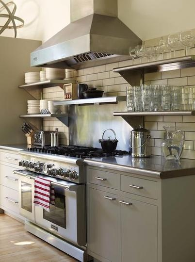 Small-industrial-kitchen Lamberston industries counters, shelves