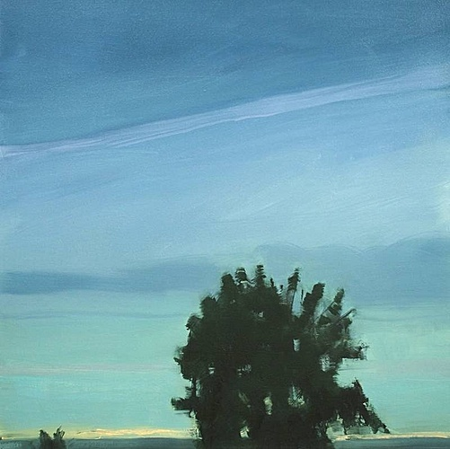 Sara MacCulloch, Tree Silhouette Sky  2012, Oil on canvas