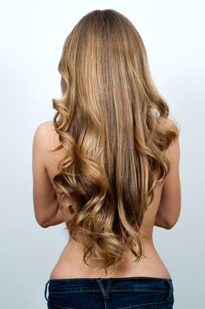Прямые волны, завивка волос