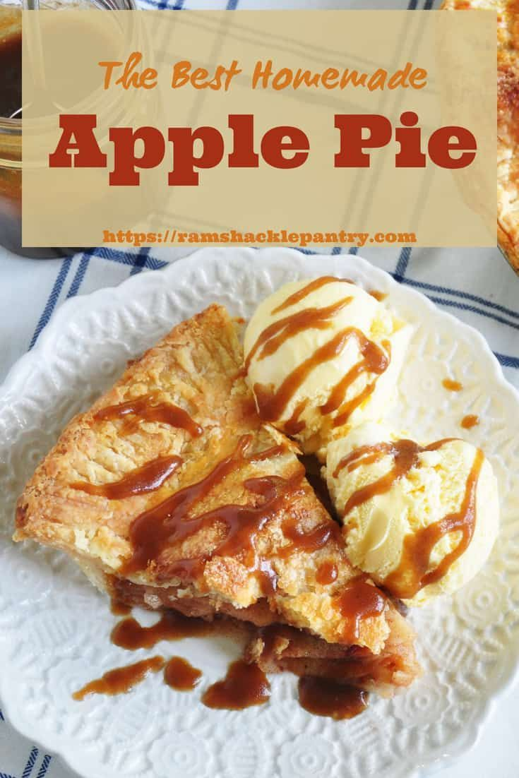 All American Apple Pie Recipe With Caramel Sauce Recipe Fall Baking Recipes And Fall Dessert