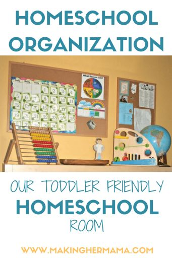Our toddler friendly homeschool room. Come and see how we have adapted our homeschool classroom to make it toddler friendly. Plenty of tips and tricks you can apply to your own homeschool!