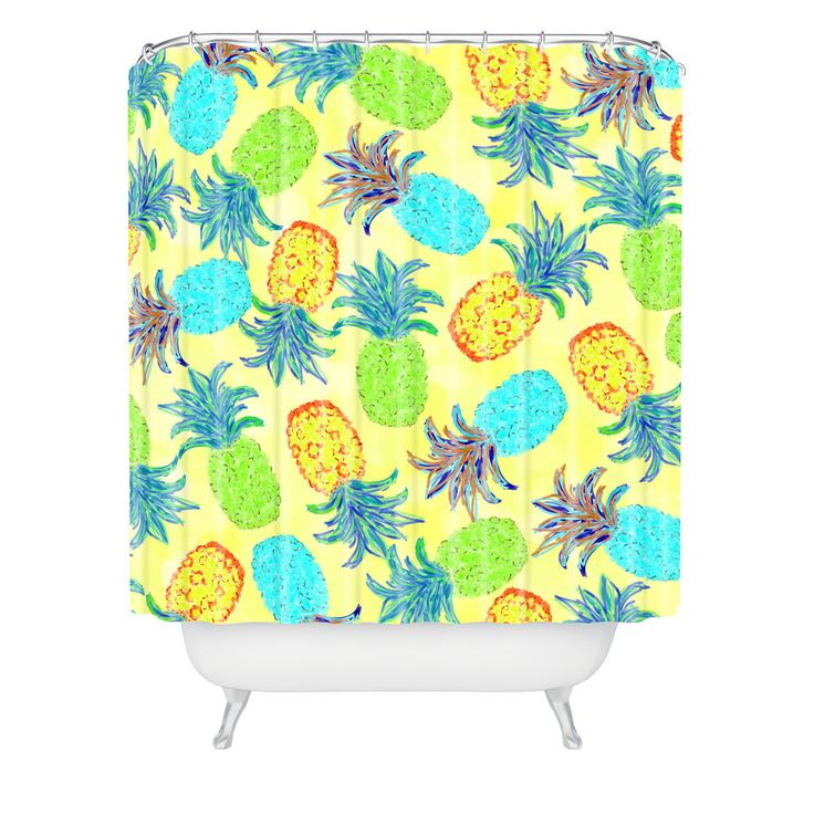 Lisa Argyropoulos Pineapple Pandemonium Yellow Shower CurtainBest 25  Yellow shower curtains ideas on Pinterest   Yellow kids  . Yellow And Teal Shower Curtain. Home Design Ideas