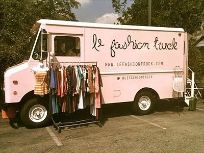 The Jem Journal: Fashion Trucks. what a great idea. Take fashion on the road. no rent, no electricity, no water bills