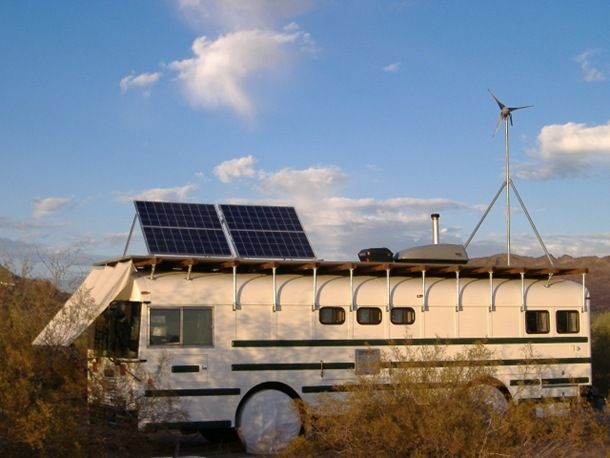Here is an amazing eco-friendly out conversion of an old yellow school bus, find out more at: http://seanf.smugmug.com/Bus-Conversion/Conversion-Log-2005/April-2/961998_ZPZVV