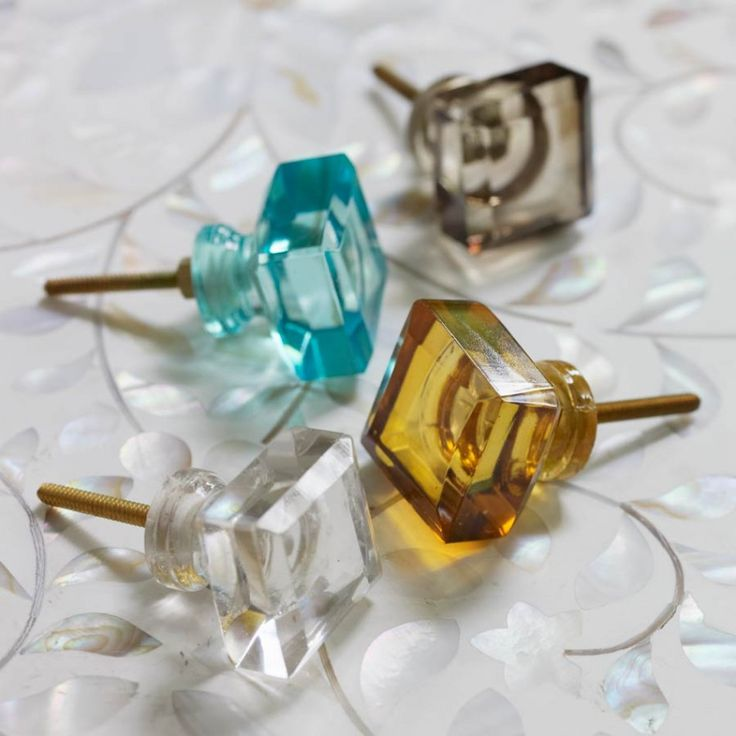Square Glass Knobs - Door Knobs & Handles - Home Accents