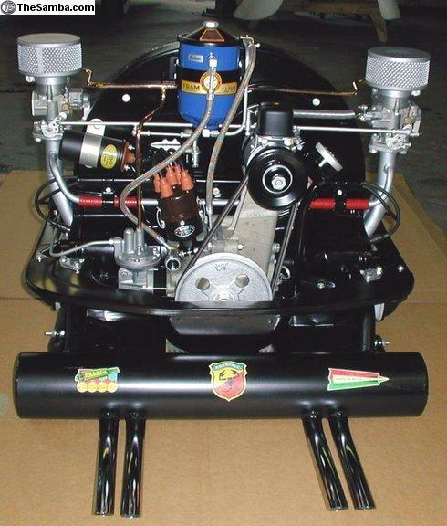 36hp Volkswagen engine with Okrasa upgrades and Abarth exhaust