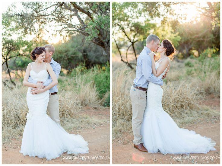 www.gracestudios.co.za  Wedding couple Bush wedding