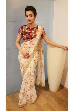 Sarees, Floral Print Saree