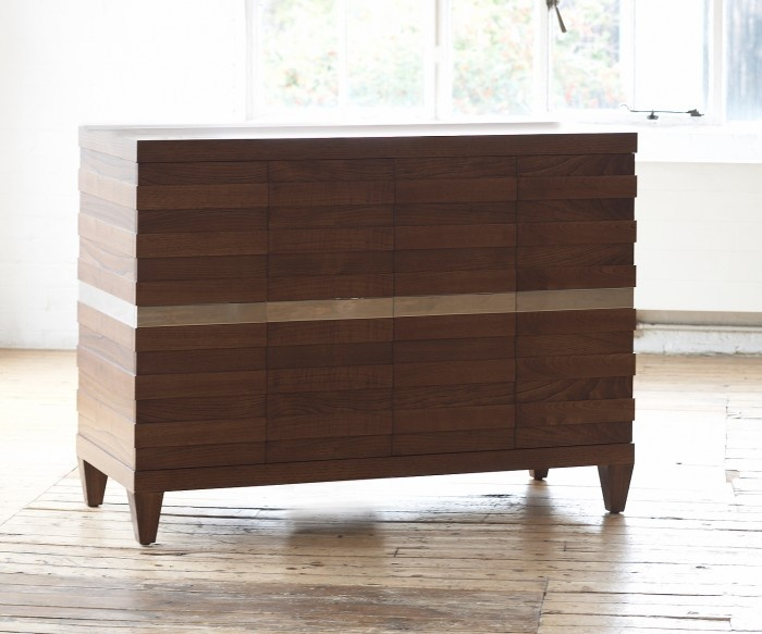 hyme tv chest in chestnut and nickel with remote lift sideboards u0026 cabinets furniture