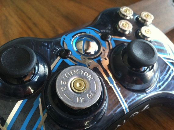 Xbox Halo 4  controller 9mm bullet button 12 guage shotgun shell dpad Controller Video Game gun  video games call of duty gears of war. $120.00, via Etsy. BTW...for the best game cheats, tips,DL, check out: http://cheating-games.imobileappsys.com/