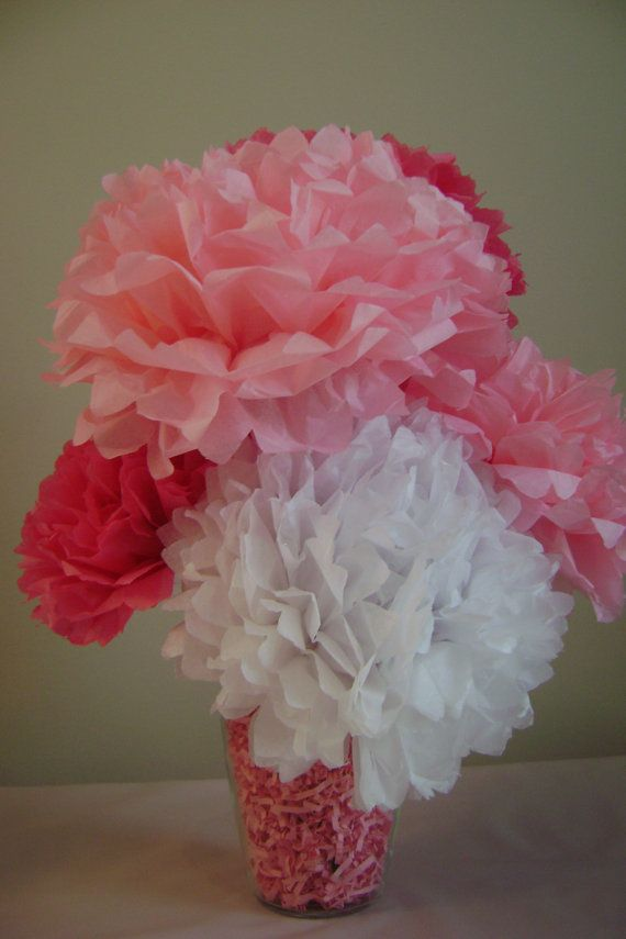 10 Tissue Flower Centerpieces Complete Set 6 By