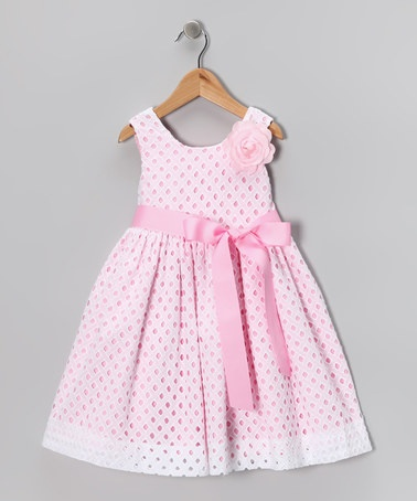 Take a look at this White Eyelet Dress - Girls by Plum Pudding on #zulily today!