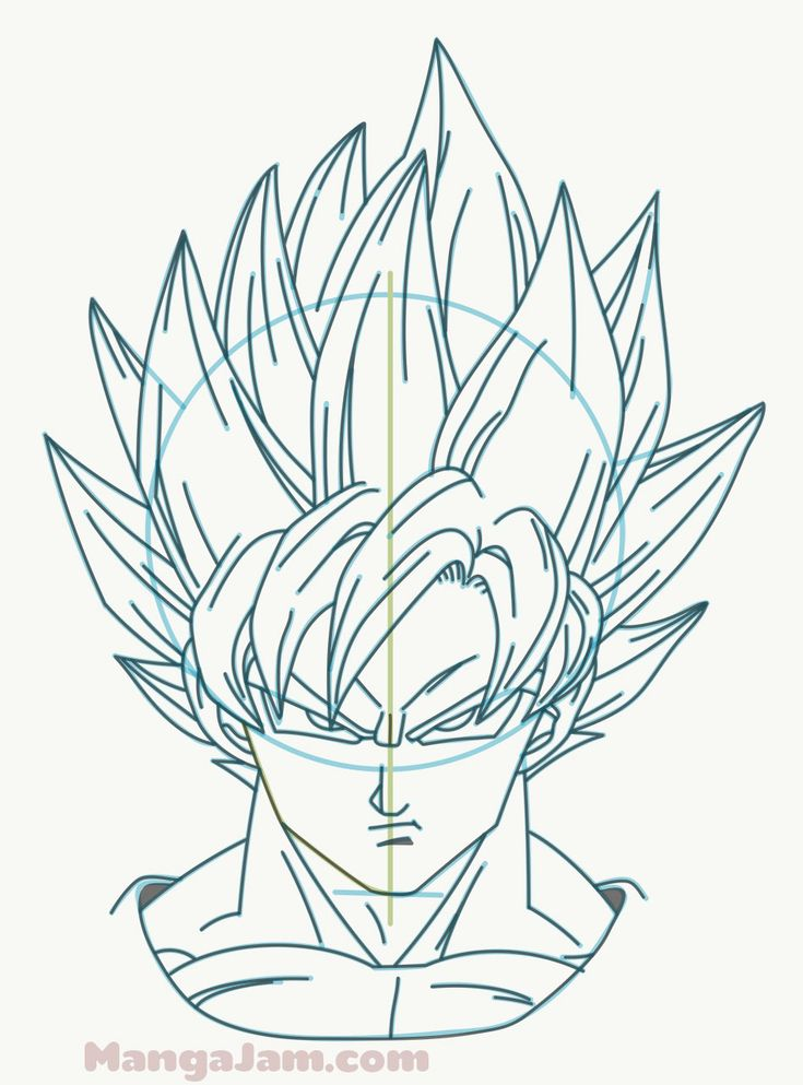 How to Draw Super Saiyan Goku from Dragon Ball (avec images) | Coloriage dragon ball, Coloriage ...