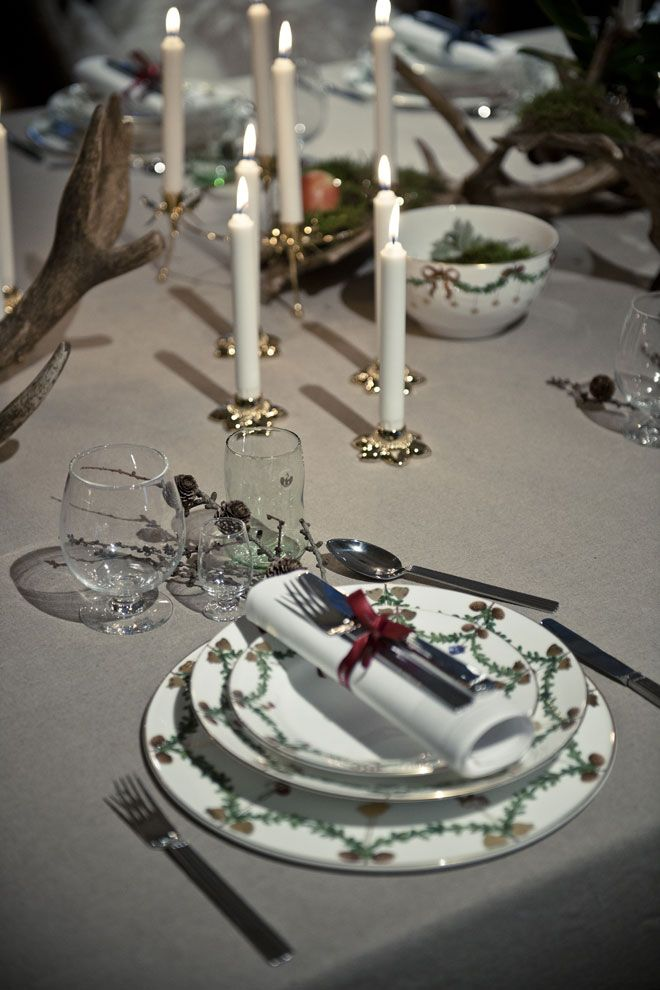 Christmas Event - tables set with Star Fluted Christmas. Picture from www.royalcopenhagen.com