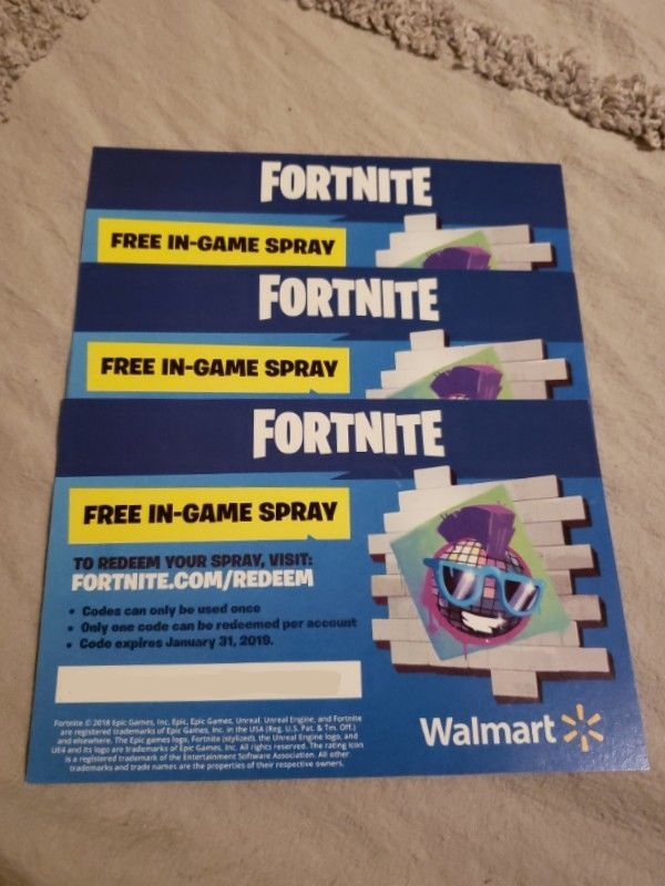 Fortnite Walmart Exclusive In Game Spray Code Ps4 Xbox One
