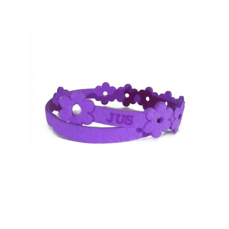 "SONGES BRACCIALE ""JUS"" IN ALCANTARA VIOLA  http://www.myfavouriteshopping.com/"