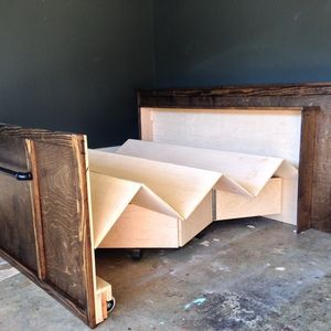 Foldable guest bed! This RYOBI Nation project is beyond genius. Great idea for maximizing small spaces.