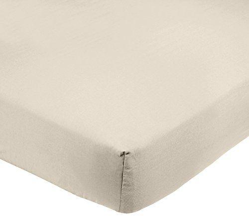 AmazonBasics Microfiber Fitted Sheet Beige: Inclut 1drap-housse de 90x190x30cm 100% microfibre polyester 85g/m² pour une douceur et…