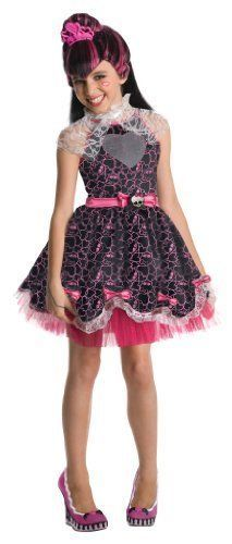 Monster High Sweet 16 Deluxe Draculaura Costume Large Girls Dress Up Outfit #Dress