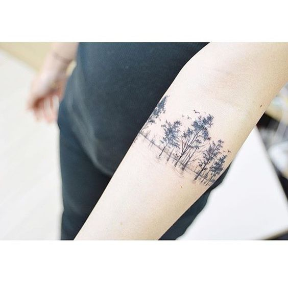 Trees, Forest, Woods Tattoo