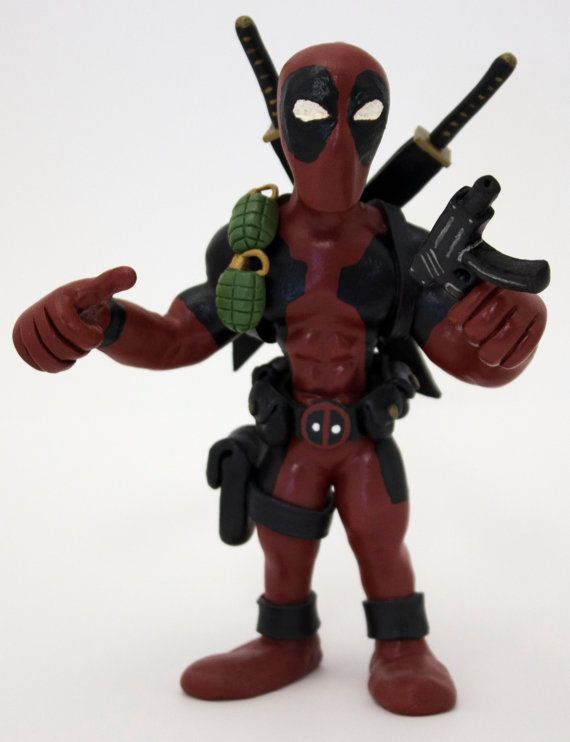 Hand-Crafted Deadpool Figure by LightningSculpts on Etsy