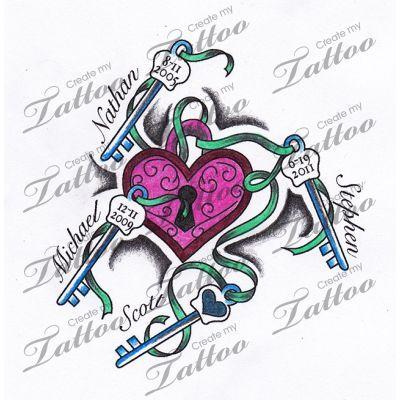 kids names tattoos - Google Search                                                                                                                                                      More