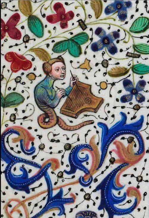 Image result for medieval manuscript idiot