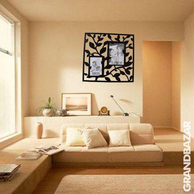 Stílusos falevél képkeret falmatrica (501)