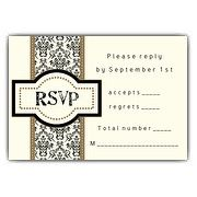 Damask Ribbon Reply Set | PaperStyle