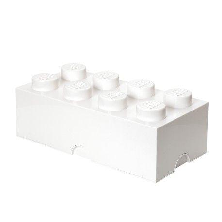 """Lego opbevaringskasse – stor brick 8 - Super smarte og lækre opbevaringskasser fra Room Copenhagen.  Kan bruges både i børneværelser og i stuen.  Alle kasser kan stables ovenpå hinanden, også store og små sammen.  Findes også i en mindre variant """"Lego opbevaringskasse - lille brick 4"""""""