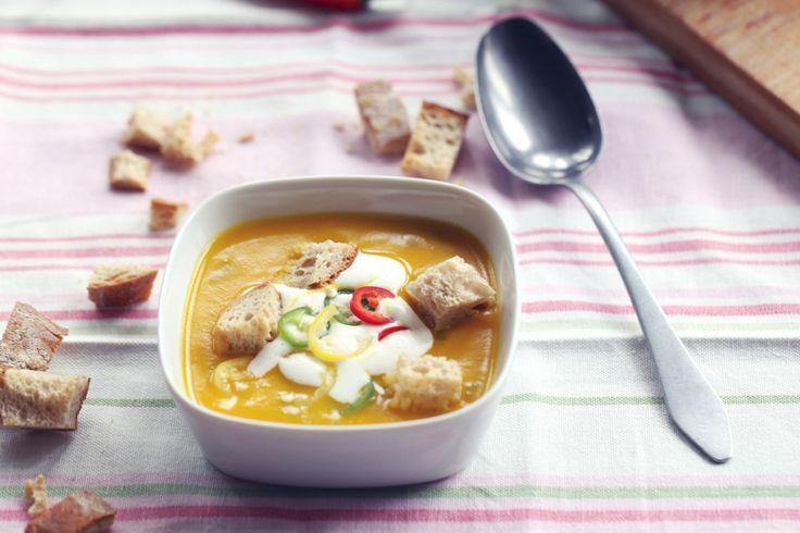 Dýňová polévka s kokos. mlékem
