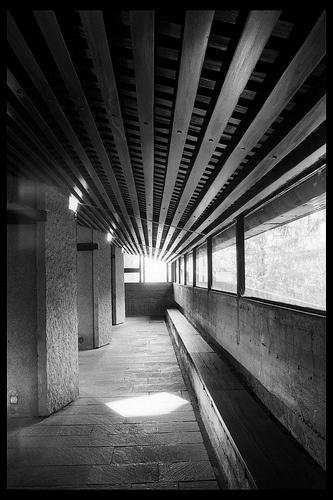 Edoardo Gellner & Carlo Scarpa:  Chiesa di Notra Signora del Cadore, Borca di Cadore, Italy.  1956-61, photo by danifly, via Flickr