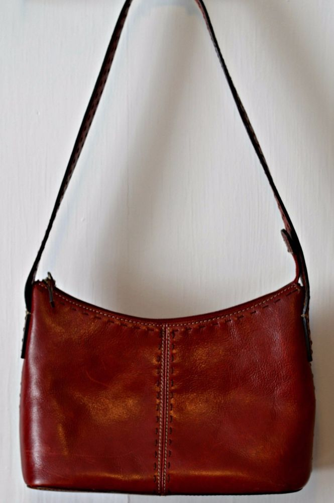 Authentic Fossil Purse Deep Red Genuine Leather Fossil