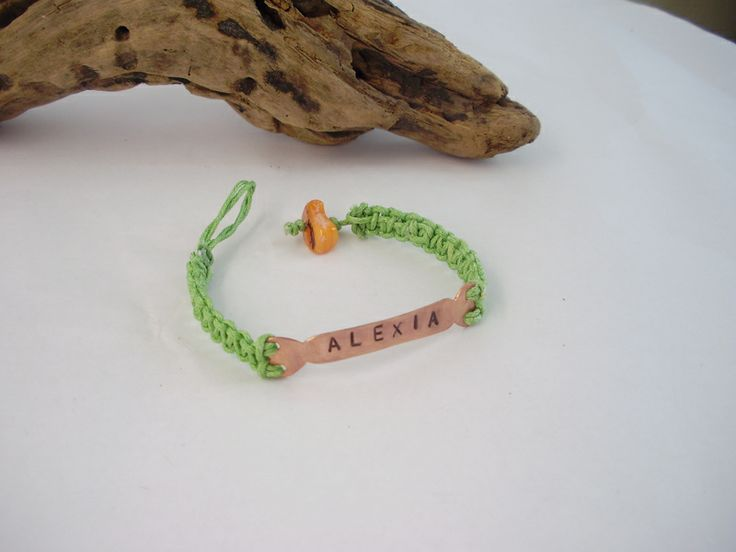 Bracelet from cooper with name