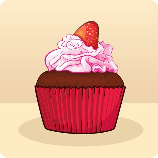 Image from http://blog.michelledinan.com/illustrations/strawberry-cupcake/strawberry-cupcake.png.