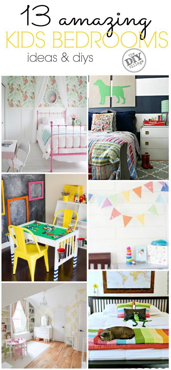 1023 best images about kid bedrooms on pinterest - Childrens Bedroom Wall Ideas