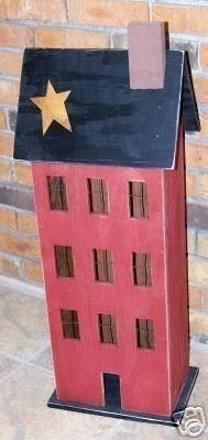 Primitive Wooden Patterns Free   Handmade Primitive Wooden Saltbox HousePATTERN by kgw158 on Etsy