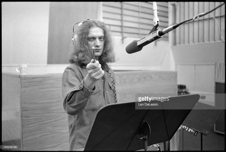 Photo by Len DeLessio Throw Back Thursday, l'm in the Atlantic Records Recording Studio with Foreigner while they work on their first album. Lou Gramm pointing at me from the other side of the glass.