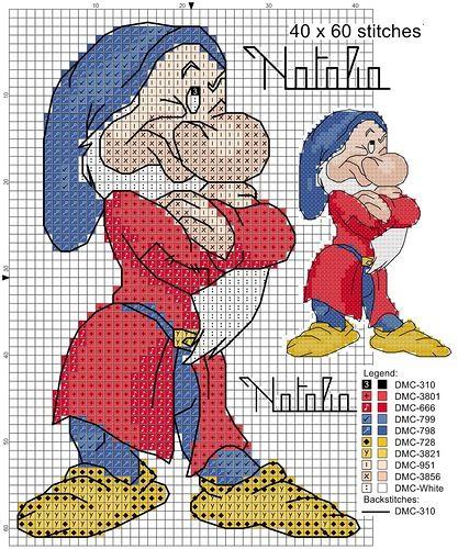 Brontolo schemi di Natalia crocettando@ http://crocettando.wordpress.com/2013/11/14/nanetti-e/