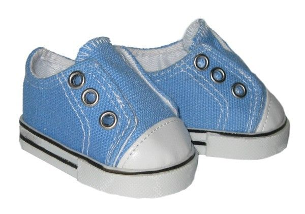 American Boy Doll Shoes.  Silly Monkey - Blue Laceless Sneakers, $6.50 (http://www.silly-monkey.com/products/blue-laceless-sneakers.html)