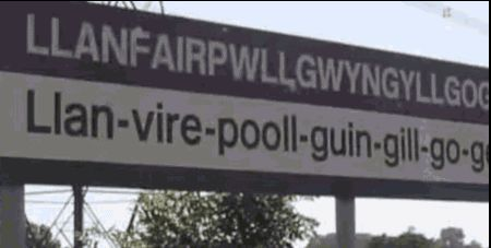 Welsh town name: longest in the world!