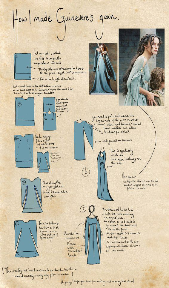 Simple yet pretty medieval dress how to... olivia!! this would be awesome!!