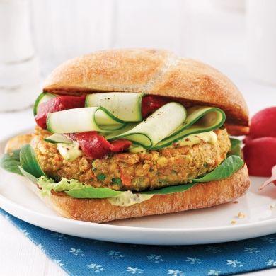 Hamburger végétarien aux haricots blancs - Recettes - Cuisine et nutrition - Pratico Pratique