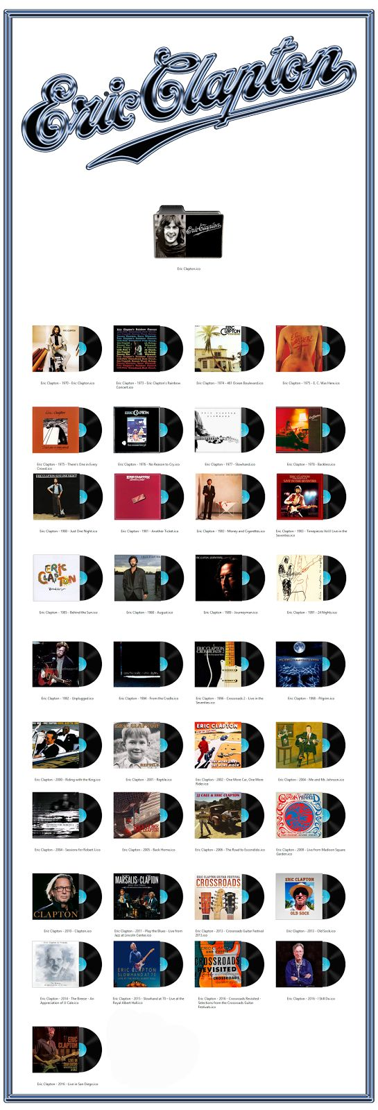 Album Art Icons: Eric Clapton Discography Icons (ICO & PNG)