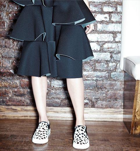 Running around on this gorg day in my fav MSG skirt and kicks!