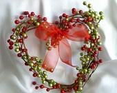 Handmade Новогодние украшения, красный и зеленый венок отдыха