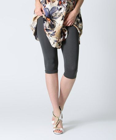 This Charcoal Capri Leggings is perfect! #zulilyfinds