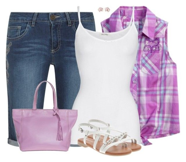 """""""Plaid Top"""" by sherbear1974 ❤ liked on Polyvore featuring American Vintage and Loxwood"""
