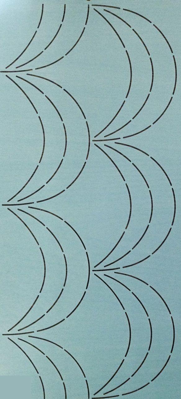 """Continuous Scallops 8"""" - The Stencil Company"""